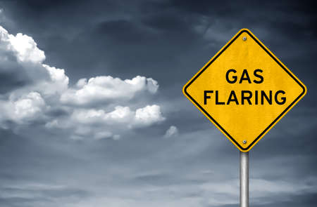 Stop Flaring of Gas - roadsign concept