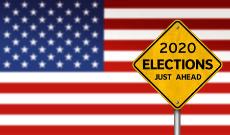 2020 ELECTIONS - presidential election in America 免版税图像