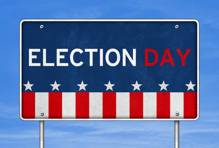 Presidential Election Day in America 免版税图像