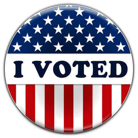 I Voted - button or badge message