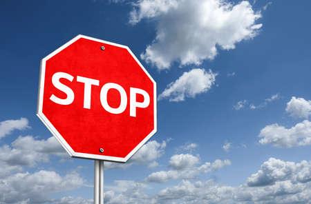 STOP - traffic sign illustration