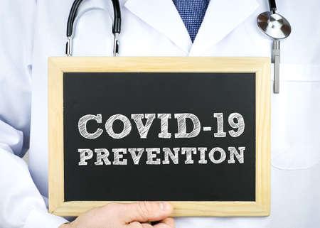 COVID-19 Prevention - chalkboard message