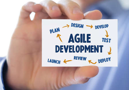 Agile Development lifecycle process - business card