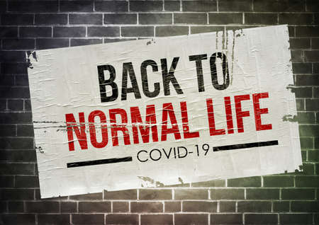 COVID-19 - back to normal life after coronavirus 免版税图像 - 157860437