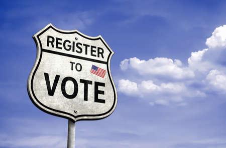 Register to Vote - roadsign illustration