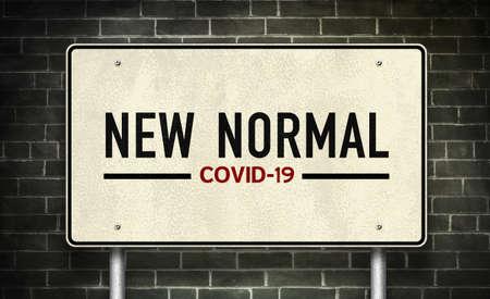COVID-19 coronavirus lockdown rules concept illustration 免版税图像 - 157860440