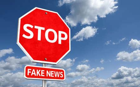 Stop fake news 免版税图像