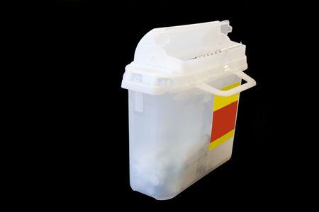 Disposal box for used needles.  Archivio Fotografico