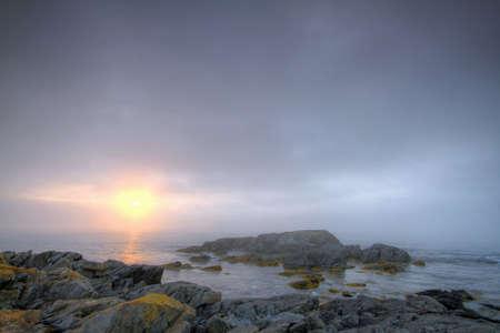 Early morning fog along the Atlantic coastline.  Stock Photo - 8070732