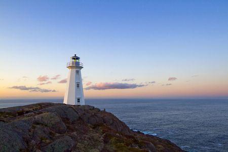 The Cape Spear lighthouse.