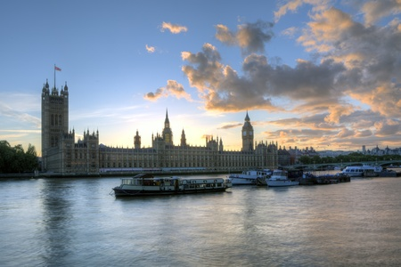 Big Ben and the Thames river, London.