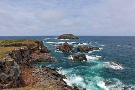 newfoundland: Rocky shoreline near Elliston, Newfoundland.