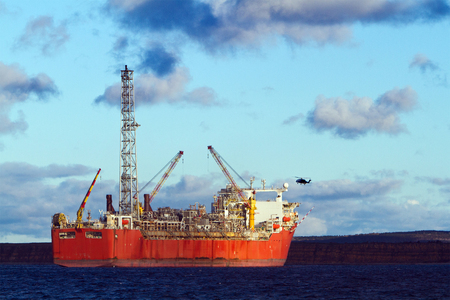 A FPSO oil production vessel.