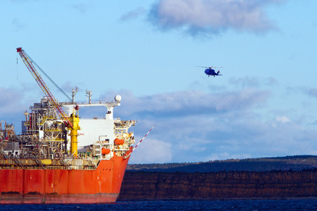subsea: FPSO oil production vessel. Stock Photo
