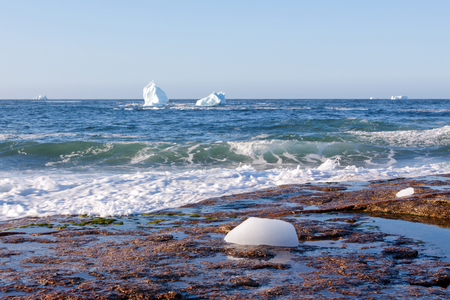 Where Icebergs go to die... Iceberg Alley, Newfoundland and Labrador. Stock Photo