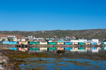 French fishing island of Saint Pierre. Stock Photo