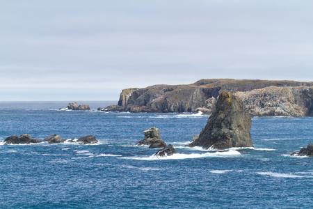 nfld: Atlantic coastline with rocks.