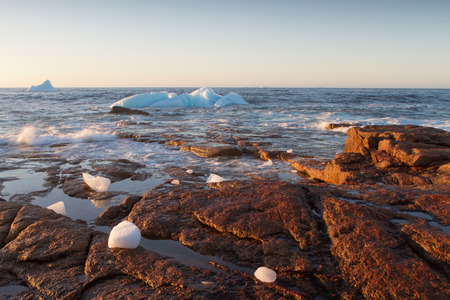 Where Icebergs go to die... Iceberg Alley, Newfoundland and Labrador. Foto de archivo