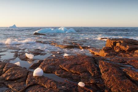 arctic ocean: Where Icebergs go to die... Iceberg Alley, Newfoundland and Labrador. Stock Photo