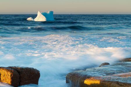 newfoundland: Where Icebergs go to die... Iceberg Alley, Newfoundland and Labrador. Stock Photo