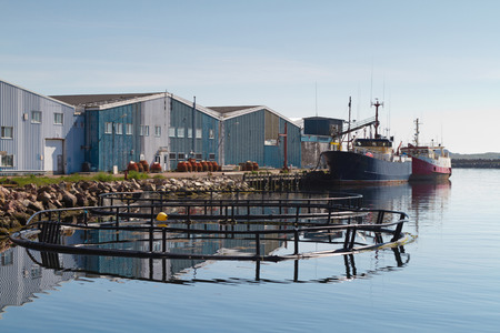 Fish pens and trawlers.