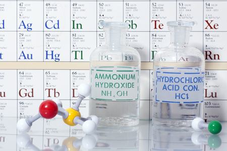 Acid and Base chemistry. Archivio Fotografico