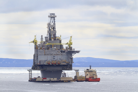 subsea: Oil and gas platform Stock Photo