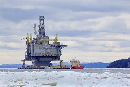 Oil and gas platform Archivio Fotografico