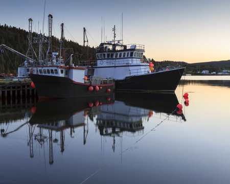 Fishing boats in Conception Bay, Newfoundland and Labrador, Canada Stok Fotoğraf