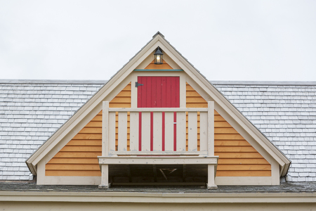 Balcony on the roof of a house. Stock Photo