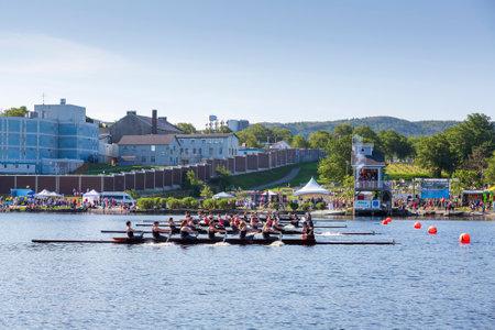 ST. JOHN'S, CANADA, AUGUST 1, 2018: 200th running of the Royal St. John's Regatta. The oldest regatta in North America, taken on August 1 in St. John's. Editorial