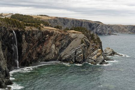 Beautiful cliffs along the rugged Newfoundland and Labrador coastline.