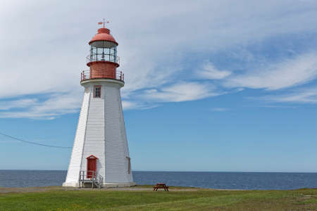 The light tower at Point Riche, Port au Choix, Newfoundland and Labrador, Canada.
