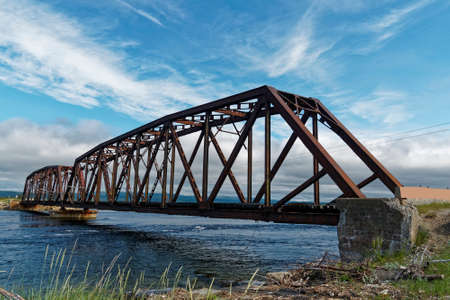 The Gut Bridge is an old metal truss railroad bridge located in Stephenville Crossing, Newfoundland and Labrador, Canada.