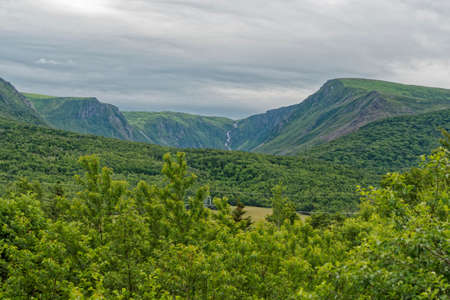 Mountains in the Codroy Valley, Newfoundland and Labrador, Canada.