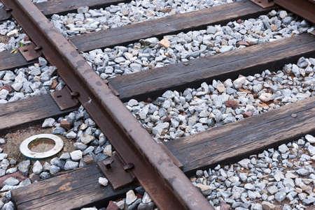trestle: closeup of old railroad trestle
