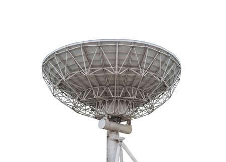 antena parabolica: antena parabólica en el fondo blanco