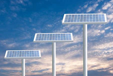 alternativ: Solar panels and blue sky Stock Photo