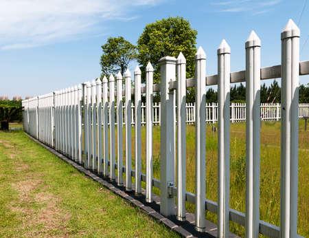 郡スタイル木製フェンス。 写真素材