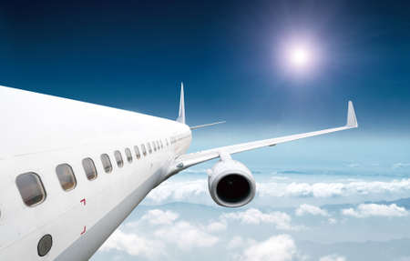 airliner: Big airliner in the sky