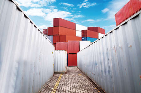 cargo container: Cargo containers Stock Photo