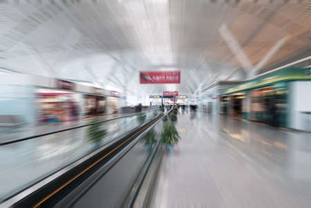 bewegung menschen: Innere Flughafen Editorial