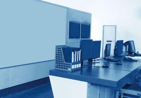 Modern plant control room and computer monitors Reklamní fotografie