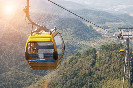 hapiness: Cable Car at Park Stock Photo
