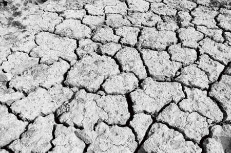 Lake bed drying up due to drought Imagens
