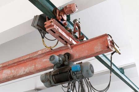 Industrial crane hook in a building Reklamní fotografie