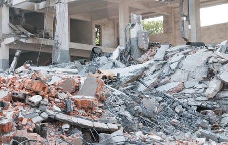 demolition: Building demolition Stock Photo