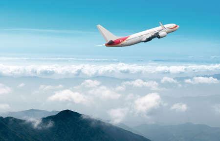 Clear airplane in the sky Reklamní fotografie