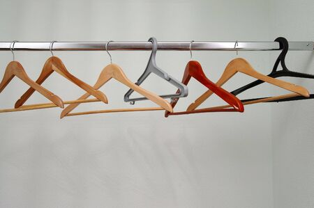 coathangers: Empty wardrobe with a few different coathangers