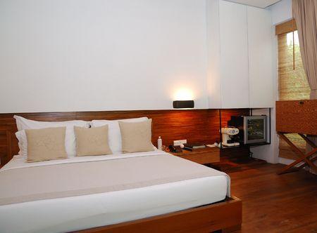 Sleeping room in the spa resort, Thailand Stock Photo - 3369666